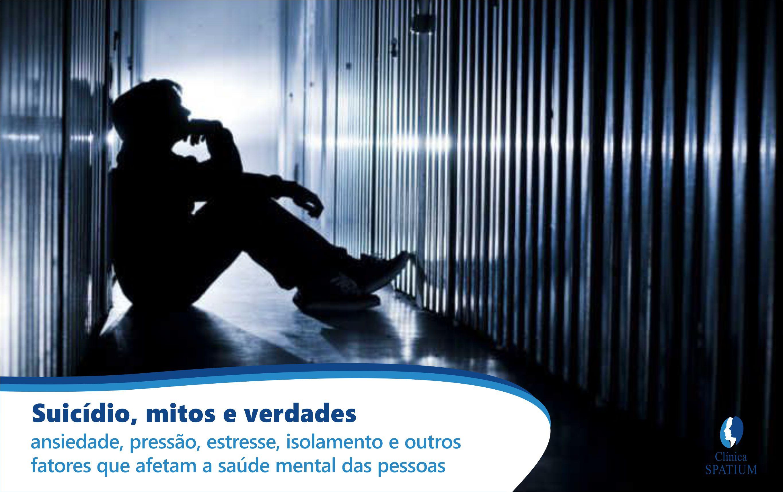 Mitos: ansiedade, pressão, estresse, isolamento e outros  fatores que afetam a saúde mental das pessoas.